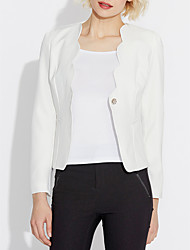 cheap -Women's Work Blazer - Solid Colored