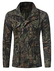 Недорогие -Муж. Куртка Армия - Деревья / листья камуфляж С принтом
