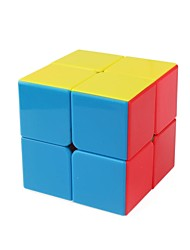 baratos -Rubik's Cube 1 peças Shengshou D0891 Rainbow Cube 2*2*2 Cubo Macio de Velocidade Cubos mágicos Cubo Mágico Brilho Moda Dom Unisexo