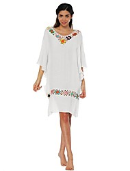 cheap -Women's Sophisticated Street chic Batwing Sleeve Bodycon Dress - Solid Colored Floral, Backless Cut Out