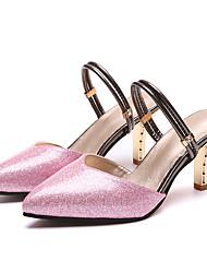 お買い得  -女性用 靴 合成マイクロファイバーPU 春 夏 アイデア ヒール スティレットヒール ポインテッドトゥ サイドドレープ のために 結婚式 パーティー ゴールド シルバー パープル ピンク