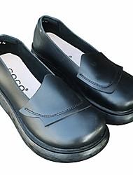 abordables -Femme Chaussures Cuir Printemps Confort Mocassins et Chaussons+D6148 Creepers Bout rond pour Noir Marron