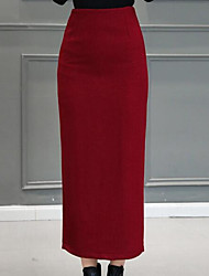 cheap -Women's Basic Pencil Skirts - Solid Colored