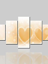 baratos -Cópias da lona rolou clássico moderno, cinco painéis de lona horizontal impressão decoração da parede de decoração para casa