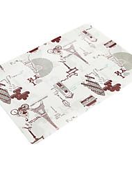 abordables -Antique / Classique Plastique Carré Sets de table Avec motifs Décorations de table 1 pcs