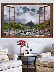 cheap -Wall Decal Decorative Wall Stickers - Plane Wall Stickers Landscape 3D Re-Positionable Removable