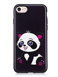 baratos -Capinha Para Apple iPhone X iPhone 8 Estampada Capa traseira Panda Macia TPU para iPhone X iPhone 8 Plus iPhone 8 iPhone 7 Plus iPhone 7