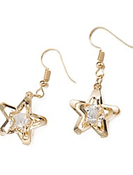 cheap -Women's Lovely Star Cubic Zirconia Drop Earrings / With Gift Box - Fashion Gold Earrings For Wedding / Daily