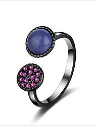 Недорогие -Жен. Опал манжета кольцо - Милая европейский Черный Кольцо Назначение Свадьба Повседневные