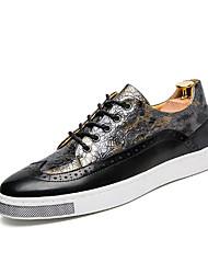 preiswerte -Herrn Schuhe PU Frühling Herbst Komfort Sneakers für Normal Gold Blau