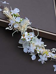 Недорогие -Синтетическое волокно Аксессуары для волос с Цветы из сатина 1шт Свадьба / Особые случаи Заставка