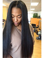 cheap -Unprocessed Human Hair U Part Wig Brazilian Hair Straight Wig Layered Haircut 130% With Baby Hair / For Black Women Black Women's Short / Long / Mid Length Human Hair Lace Wig