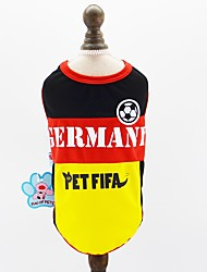 cheap -Dogs Cats Pets Jersey Dog Clothes Color Block Slogan Yellow Mesh Costume For Pets Male Sports & Outdoors Euramerican