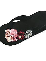 お買い得  -女性用 靴 カシミヤ 夏 コンフォートシューズ スリッパ&フリップ・フロップ クリーパーズ ラウンドトウ のために カジュアル イエロー レッド