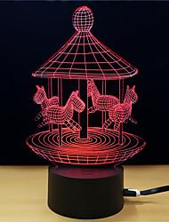 Недорогие -1шт 3D ночной свет Поменять USB Стресс и тревога помощи Украшение Безопасность Креатив Меняет цвета 5V