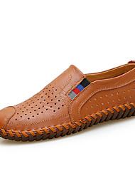 abordables -Homme Chaussures Similicuir Printemps Eté Confort Mocassins et Chaussons+D6148 Motif Animal pour Décontracté Noir Jaune Marron