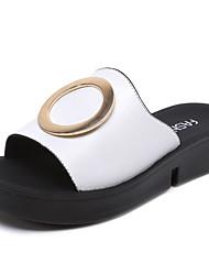 povoljno -Žene Cipele Sintetika, mikrofibra, PU Ljeto Udobne cipele Sandale Ravna potpetica za Kauzalni Obala Crn Crvena