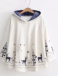 cheap -Women's Cute Active Hoodie Sweatshirt - Floral