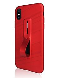 economico -Custodia Per Apple iPhone X iPhone 8 Plus Supporto ad anello Per retro Tinta unita Morbido TPU per iPhone X iPhone 8 Plus iPhone 8 iPhone