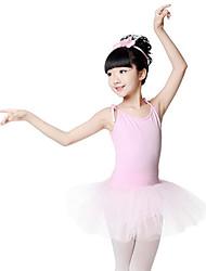 abordables -Ballet Robes Fille Entraînement Utilisation Coton Bandeau Sans Manches Taille moyenne Robe