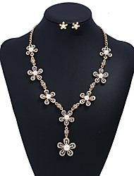 cheap -Women's Jewelry Set - Flower Sweet Include Gold For Wedding / Ceremony / Earrings