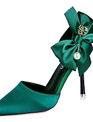 お買い得  -女性用 靴 ラバー 春 コンフォートシューズ ヒール スティレットヒール ポインテッドトゥ のために アウトドア ブラック レッド グリーン