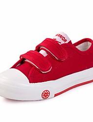 preiswerte -Jungen / Mädchen Schuhe Leinwand Frühling Komfort Sneakers für Weiß / Rot / Blau