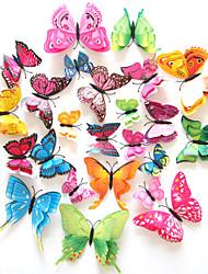 Недорогие -Декоративные наклейки на стены Наклейки на холодильник - 3D наклейки Животные Гостиная Спальня Ванная комната Кухня Столовая Кабинет /