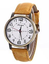Недорогие -Жен. Модные часы Кварцевый Крупный циферблат PU Группа Аналоговый Мода минималист Черный / Белый / Синий - Красный Зеленый Синий Один год Срок службы батареи