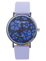 baratos -Mulheres Relógio de Moda Chinês Mostrador Grande PU Banda Casual / Minimalista Preta / Branco / Azul