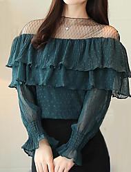 preiswerte -Damen Einfarbig-Niedlich Street Schick T-shirt Spitze