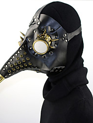 Недорогие -Доктор чумы / Steampunk Маскарадная маска Ведение маски / Punk Rave Все Черный Кожа PU Косплэй аксессуары Хэллоуин костюмы