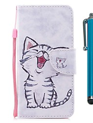 cheap -Case For Motorola MOTO G5 Plus Card Holder Wallet with Stand Flip Magnetic Full Body Cases Cat Hard PU Leather for Moto G5s Plus Moto G5s
