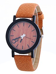 cheap -Women's Fashion Watch Chinese Large Dial PU Band Fashion / Minimalist Black / Orange / Brown / One Year