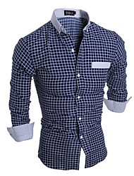 cheap -Men's Basic Shirt-Check