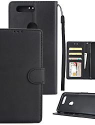 billiga -fodral Till OnePlus 5 / OnePlus 5T Plånbok / Korthållare / Stötsäker Fodral Enfärgad Hårt PU läder för One Plus 5 / OnePlus 5T