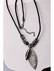 Недорогие -Ожерелья с подвесками - В форме листа Милая, Мода Черный 60 cm Ожерелье Назначение Вечеринка / ужин, Повседневные