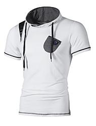 cheap -Men's Basic Cotton Slim T-shirt - Color Block Stand