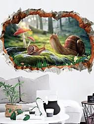 economico -Adesivi decorativi da parete - Adesivi aereo da parete Animali 3D Salotto Camera da letto Bagno Cucina Sala da pranzo Sala studio /