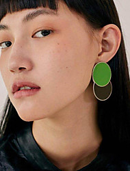 cheap -Women's Geometric Clip Earrings - Gold Plated Korean, Fashion Purple / Blue / Dark Green For Gift / Daily