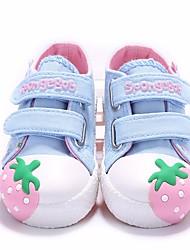 cheap -Girls' Shoes Canvas Spring / Fall First Walkers Sneakers for Peach / Pink / Light Blue
