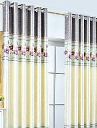 povoljno -Zavjese Zavjese Living Room Cvjetni print Suvremeno Pamuk / poliester S printom