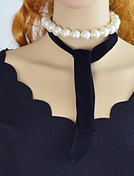 cheap -Women's Imitation Pearl Chain Necklace  -  Simple Casual Line Black 108cm Necklace For Party / Evening School
