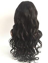 Недорогие -Не подвергавшиеся окрашиванию Полностью ленточные Парик Перуанские волосы Волнистый Парик Стрижка каскад 130% С детскими волосами / Для темнокожих женщин Черный Жен. Короткие / Длинные / Средняя длина