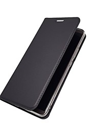 abordables -Coque Pour Huawei Mate 10 lite Mate 10 pro Porte Carte Avec Support Clapet Magnétique Coque Intégrale Couleur Pleine Dur faux cuir pour