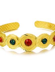 Недорогие -Браслет разомкнутое кольцо Этнический Позолота Браслет Ювелирные изделия Золотой Назначение Для вечеринок Подарок