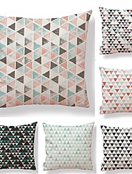 cheap -6 pcs Textile Cotton / Linen Pillow case Pillow Cover, Lines / Waves Geometric Pattern Contemporary Simple High Quality
