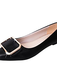 cheap -Women's Shoes PU Spring Fall Comfort Flats Low Heel for Wedding Casual Gold Black Silver