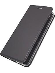 billiga -fodral Till OnePlus 5 / OnePlus 5T Korthållare / med stativ / Lucka Fodral Enfärgad Hårt PU läder för OnePlus 6 / One Plus 5 / OnePlus 5T