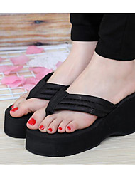 cheap -Women's Shoes EVA Summer Comfort Slippers & Flip-Flops Creepers for Black